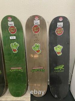 9 Santa Cruz x TMNT Ninja Turtle Skateboard Deck EXTREMELY RARE SET LIMITED NOS