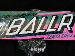 Erick Winkowski Signed Santa Cruz 8 Ballr Skateboard Autographed Auto 8.25 Deck
