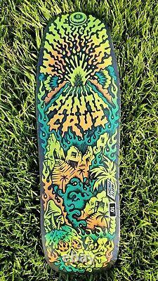 GLOW in the DARK Erick Winkowski Volcano Shaped 10 Santa Cruz Skateboard Deck