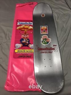 Garbage Pail Kids Santa Cruz Skateboard Adam Bomb Hazardous Hand Rare GPK New