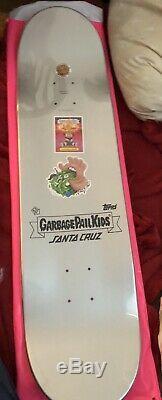 Garbage Pail Kids X Santa Cruz 8.25 Skateboard Deck Limited Edition GPK RARE