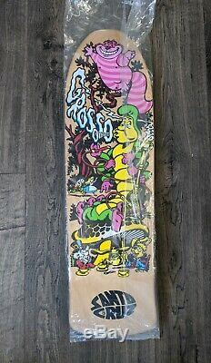 Jeff Grosso Skateboard Deck Santa Cruz Ap/50 Cease & Desist Alice In Wonderland