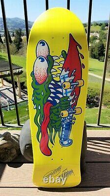 Keith Meek Slasher Yellow Dip Reissue Santa Cruz Old School Skateboard Deck