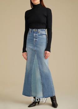 Khaite Nwt $480 Two-tone Magdalena Denim Skirt In Santa Cruz (current!) 26