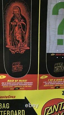 Mars Attacks Santa Cruz Skateboard Deck LTD 50 Super Custom Artist Beast 1/1