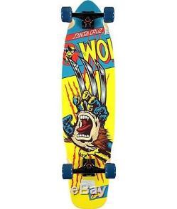 Marvel x Santa Cruz Wolverine Hand 36 Longboard Complete