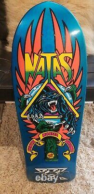 NEW Natas Kaupas SMA Panther 3 Reissue Santa Cruz Skateboard Deck BLUE