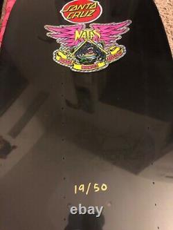 Natas Blind Bag Santa Cruz Autographed Board 19/50