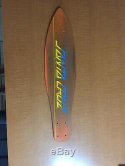 New Original 1970's Santa Cruz Skateboard Deck Old School Vintage. Never Drilled