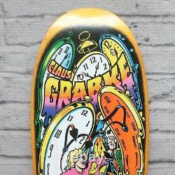 New Santa Cruz Claus Grabke Melting Clocks Skateboard Deck Reissue Skate Vtg