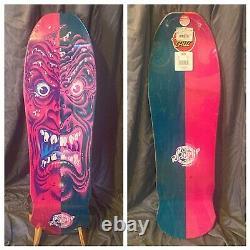 New Santa Cruz VANS Rob Roskopp Split Stain Face Reissue Skateboard Deck