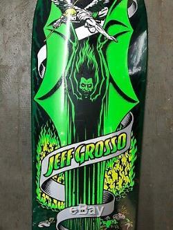 (New in shrink Santa Cruz Jeff Grosso DEMON Reissue Skateboard Deck GREEN)