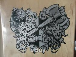 Nos Santa Cruz Soren Aaby Coat Of Arms Skateboard Deck New 1989 Mint In Shrink