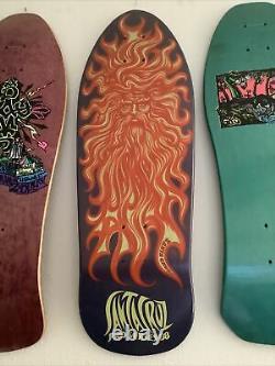 Nos vintage 80s santa cruz jason jesse sun god skateboard