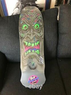 RARE SANTA CRUZ BLACKLIGHT Face Skateboard reissue deck, Roskopp NICE