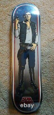 Rare Classic SANTA CRUZ Star Wars HAN SOLO Skateboard Deck BRAND NEW Disney nos