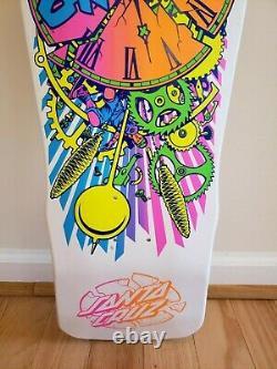 Rare Santa Cruz Claus Grabke Reissue Skateboard Deck Clock Exploding white new