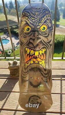 Rob Roskopp Face Santa Cruz Skateboard Deck Dark Natural Stain Jim Phillips Art