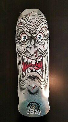 Rob Roskopp Santa Cruz Silver Glitter Prismatic Reissue Skateboard Deck