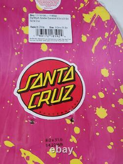 SANTA CRUZ Big Mouth Splatter Everslick Skateboard deck 8.0 x 31.6 Jim Phillips