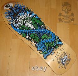 SANTA CRUZ Jason Jessee Signed Skateboard Deck Neptune Re Issue Screend