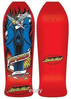 SANTA CRUZ Jeff Grosso Demon Skateboard Deck 10 x 30.1 Red Old School Re Issue