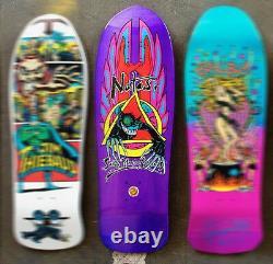 SANTA CRUZ / SMA Natas Evil Cat Skateboard Deck Purple Metallic Candy