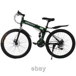 Santa Cruz 26in 21-Speed Mountain Bike Bicycle Full Suspension Foldable Bikes