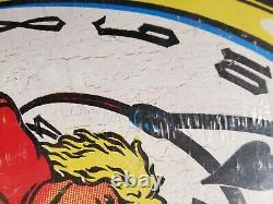 Santa Cruz Claus Grabke Melting Clock NOS 1988 Skateboard deck