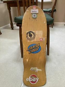 Santa Cruz Claus Grabke Melting Clocks Re-Issue Skateboard deck Yellow Dip