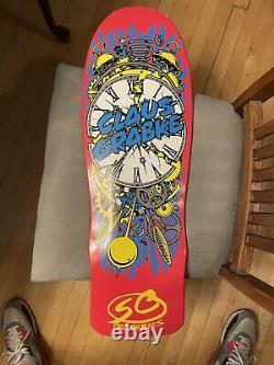 Santa Cruz Claus Grabke Reissue Skateboard Deck Exploding Clock