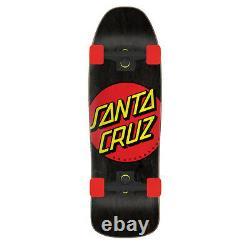 Santa Cruz Complete Skateboard 80's Classic Dot Black/Red 9.35 x 31.7