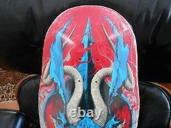Santa Cruz Deck Winkowski Primeval Skateboard Ken Taylor First Issue Red/Blue