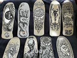 Santa Cruz Dust to Dust full series of 9 skateboard decks New, Rare