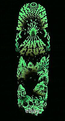 Santa Cruz Erick Winkowski Volcano Shaped Skateboard Deck Glow in the Dark