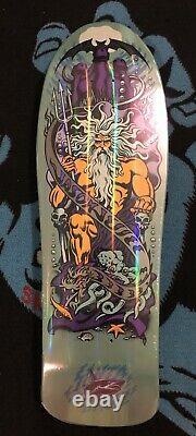 Santa Cruz Jason Jessee 30th Anniversary Neptune Reissue Aqua Prism Skateboard