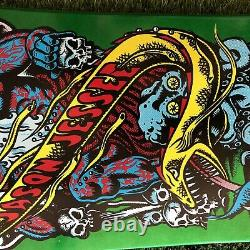 Santa Cruz Jason Jessee Neptune Limited Rare Skateboard Deck Green Metallic