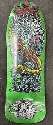 Santa Cruz Jason Jessee Neptune RARE Skateboard Deck Green Metallic