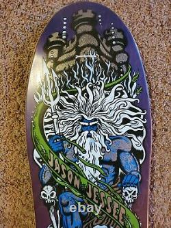 Santa Cruz Jason Jessee Neptune Skateboard Deck Vintage New BLUE REISSUE nos