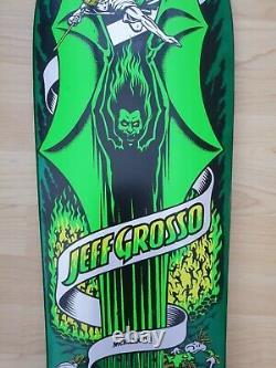 Santa Cruz Jeff Grosso Demon skateboard deck, reissue, dark green