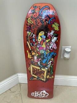 Santa Cruz Jeff Grosso Toybox Candy Orange Reissue Skateboard Deck NOS