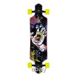 Santa Cruz Longboard Complete Hand Splatter Drop Through Black 9.0 x 36