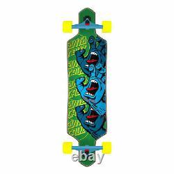 Santa Cruz Longboard Complete Screaming Hand Stack Drop Through Green 9.0 x 36