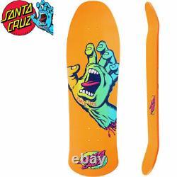 Santa Cruz Mummy Screaming Hand Orange Shaped Skateboard Deck 10inch