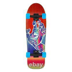 Santa Cruz Old School Skateboard Iridescent Hand 80's Style Red 9.7 x 31.7