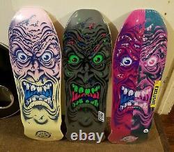 Santa Cruz Rob Roskopp Face, 3 skateboard deck reissue bundle. Free grip. L@@K