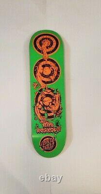 Santa Cruz Rob Roskopp Green Evolution Reissue Skateboard Deck 8.37 LTD