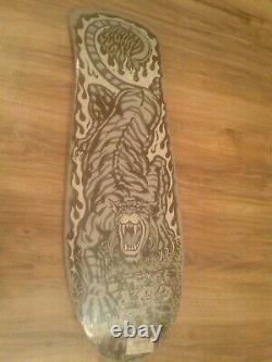 Santa Cruz SALBA Tiger Dust to Dust Reissue Skateboard Deck New in Shrink