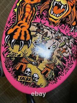 Santa Cruz SALBA Tiger Skateboard Deck Reissue Steve Alba Hot Pink Dip Rare