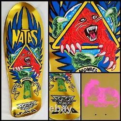 Santa Cruz SMA Natas Blind Bag Gold Foil Handpainted Skateboard Deck NHS